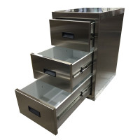 Peterbilt 579 3 Drawer Storage Kit - Stainless Finish
