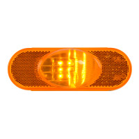 9 Amber LED Oval Side Marker & Turn Light Main
