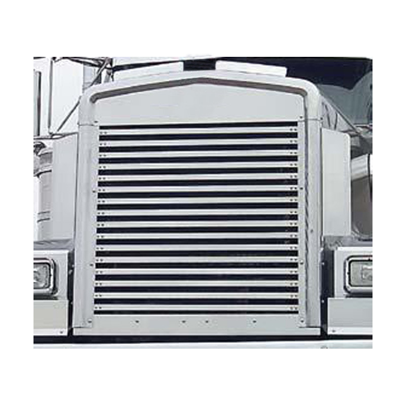 Kenworth W900L Replacement Grill With 16 Horizontal Bars