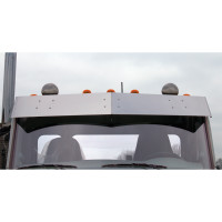 "Peterbilt 579 567 11"" Flat Top Drop Visor Flat"