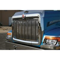 International HX520 Punched Grill Insert With Vertical Bars By Roadworks