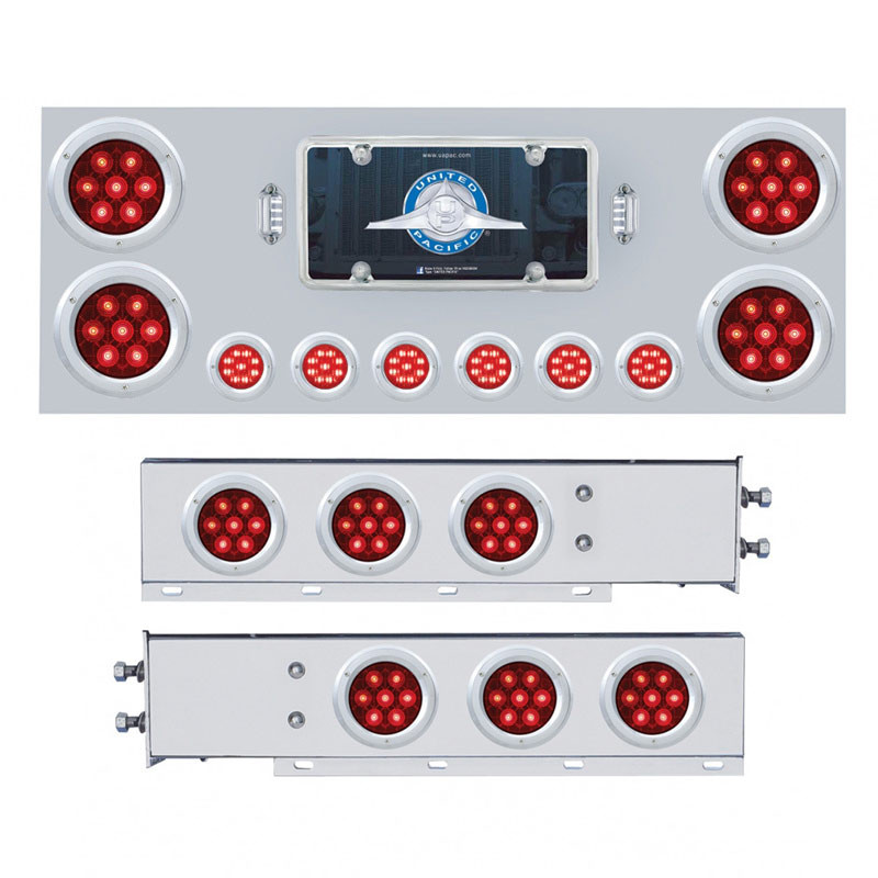 Competition Series Rear Center Panel and Mud Flap Set - Lights On