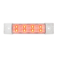 Spyder Rectangular Clearance Marker LED Trailer Light - Red/Clear