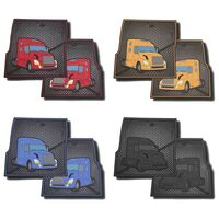 Volvo Rubber Floor Mats Red, Yellow, Blue, Black