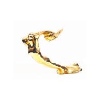 1931 Cadilac Style Flying Lady Gold Hood Ornament