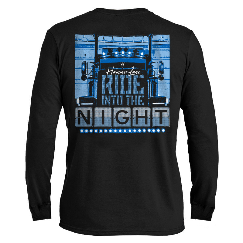 Ride Into The Night Hammer Lane Long Sleeve T-Shirt