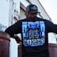 Ride Into The Night Hammer Lane Long Sleeve T-Shirt On Model Angled