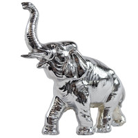 Chrome Elephant Hood Ornament Chrome Angled