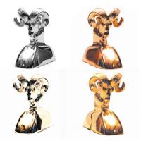 """5"""" High Rams Head Hood Ornament Chrome All Styles"""