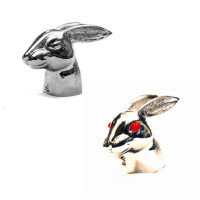 Chrome Rabbit Head Hood Ornament All Styles