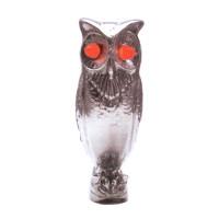 Chrome Owl With Illuminated Eyes Hood Ornament