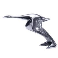 Chrome Flying Goose Hood Ornament