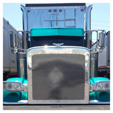 Peterbilt 388 389 Extended Hood Punch Grill By Roadworks