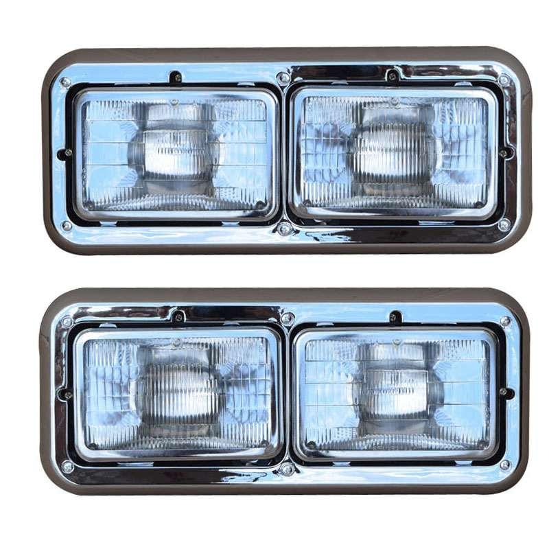 Peterbilt 357 378 379 Dual Rectangular Headlight Assembly