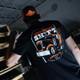 Graveyard Hammer Lane T-Shirt On Model Back Angled