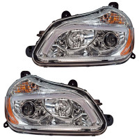 Kenworth T680 Chrome Projector Headlights - Set