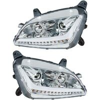 Peterbilt 579 587 Chrome Aftermarket Projector Headlights