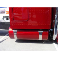 Peterbilt 359 379 389 Fuel Tank Straps Swoop Style On Truck