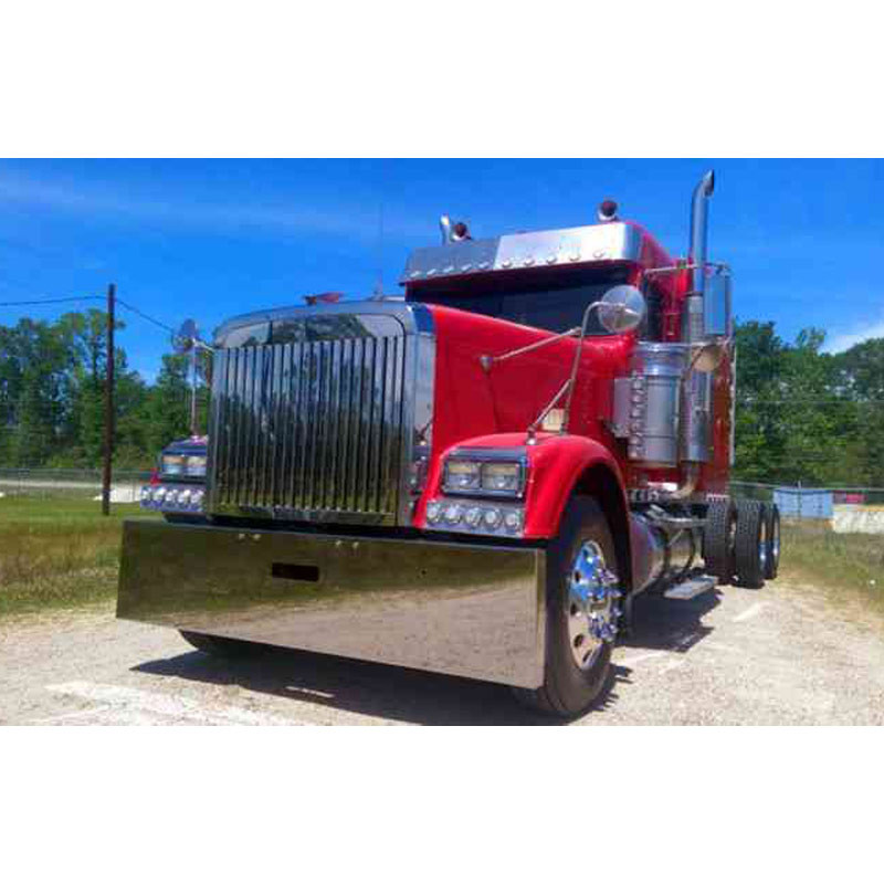 Freightliner Classic & Cabover Boxed End Bumper By Valley Chrome