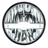 "7"" Round High Power LED Headlight with LED Position Light Bar"