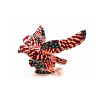 American US Flag Flying Eagle Hood Ornament