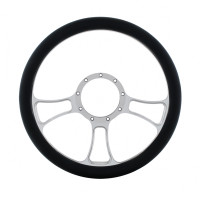 "14"" Chrome Billet Aluminum Blade Style Steering Wheel"