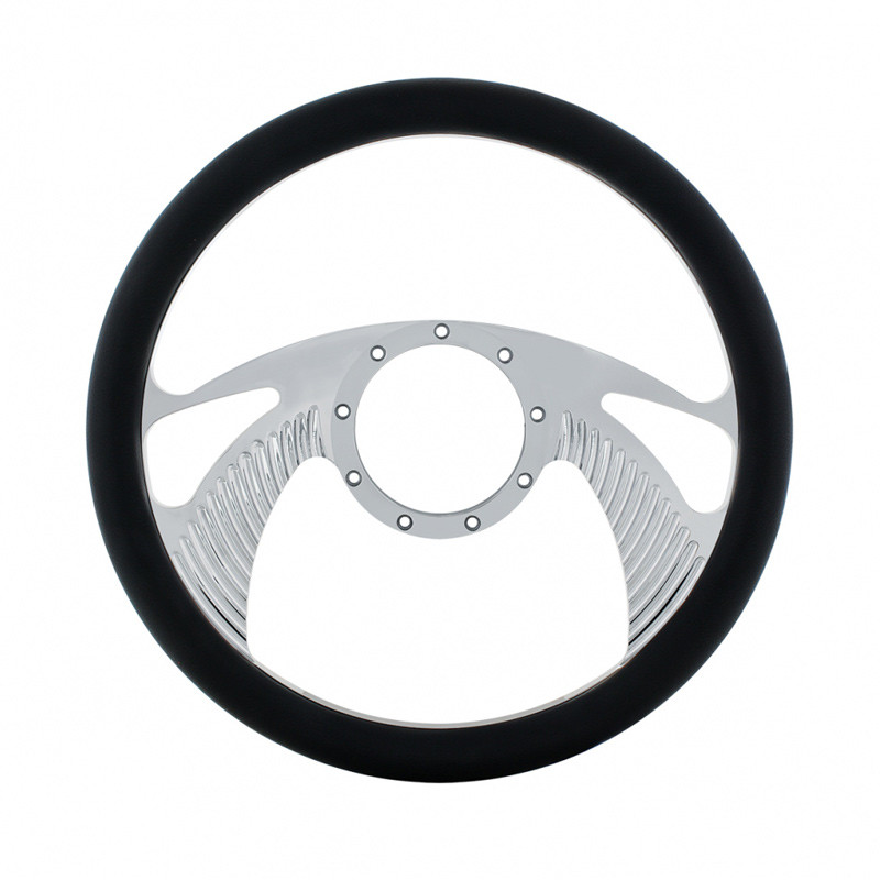 "14"" Chrome Billet Aluminum Scorpion Style Steering Wheel"