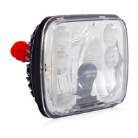 "5"" X 7"" Integrated Dual Beam Heated LED Head Light Vionic Maxxheat By Maxxima Angled"