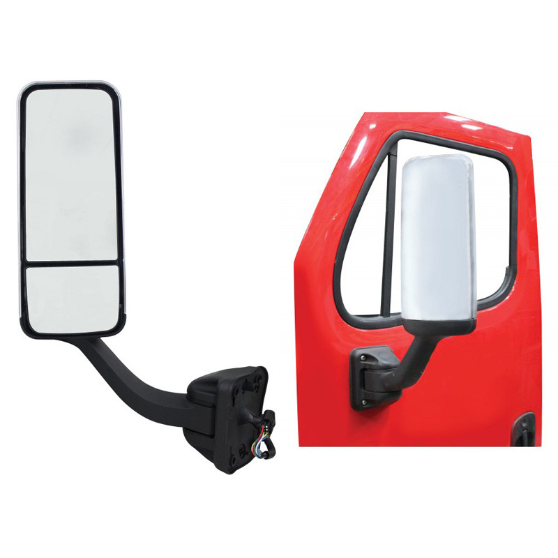 Freightliner Cascadia Chrome Mirror Assembly With Electric Operation & Heat Driver Side On Door