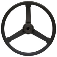 "VIP Black Polyurethane 22"" 3 Spoke Steering Wheel"