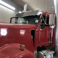 Kenworth Wicked Visor On Red Truck