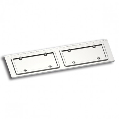 Peterbilt Stainless Steel Dual License Plate Holder