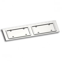 Stainless Steel Dual License Plate Holder For Peterbilt
