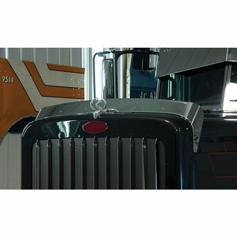 Stainless Steel Peterbilt 389 Bug Deflector
