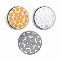 4'' Round Dual Revolution Amber Turn Signal & White Back Up LED Light