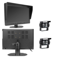 """Heavy Duty Wired 2-4 Camera System With 10"""" LCD DVR"""