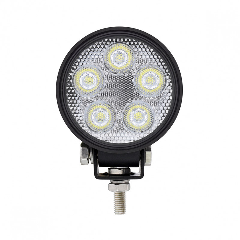 High Power 5 LED Mini Round Work Lights Front