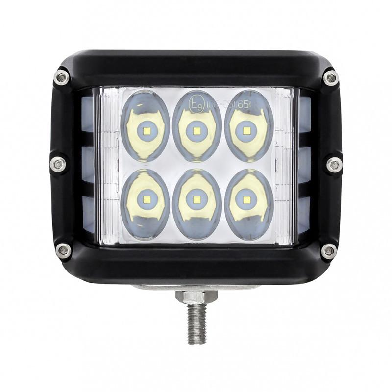 High Power 12 LED Work Light With Side Firing Light Front
