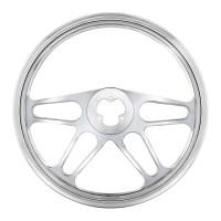 "18"" Chrome 4 Spoke Style Steering Wheel"