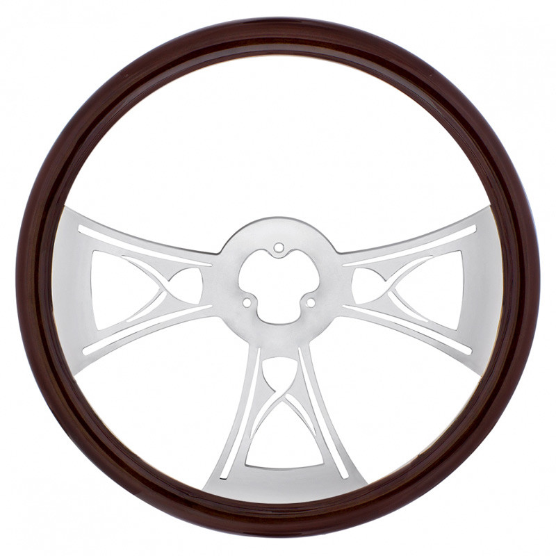 "18"" Chrome Hourglass Style Steering Wheel"