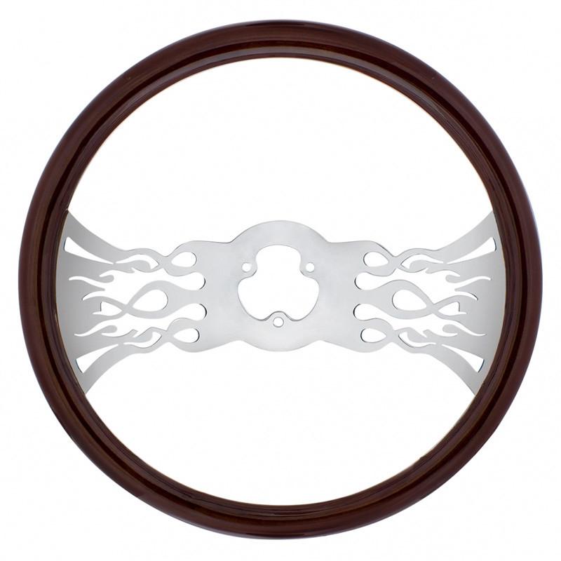 "18"" Chrome Inferno Style Steering Wheel"
