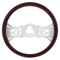 "18"" Chrome Inferno Style Steering Wheel"