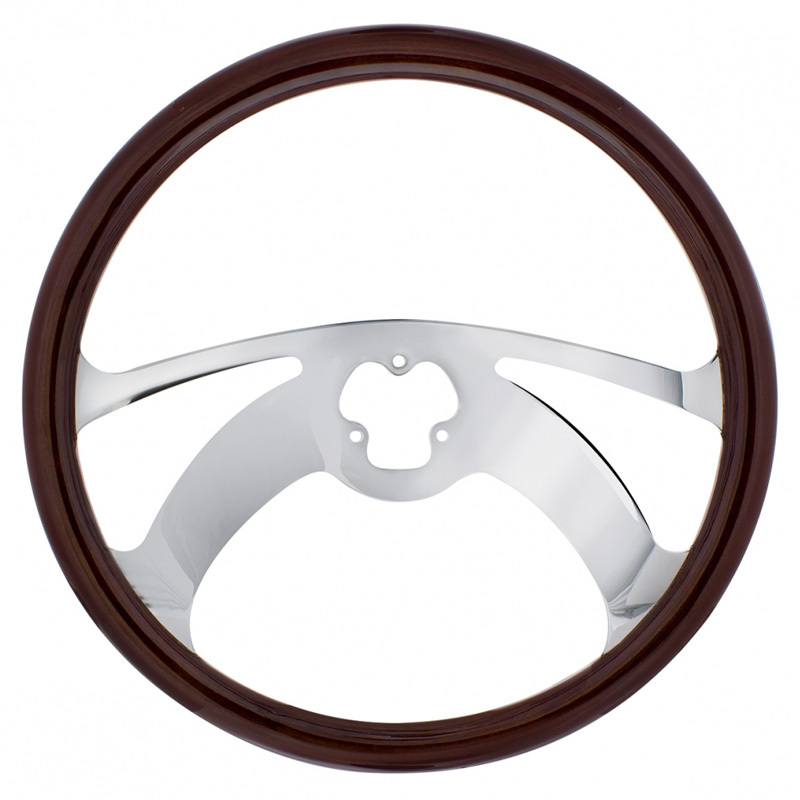 "18"" Chrome Scorpion Style Steering Wheel"