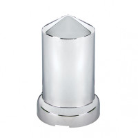 60 Pack of Chrome 33mm Push On Bullet Nut Covers Single View