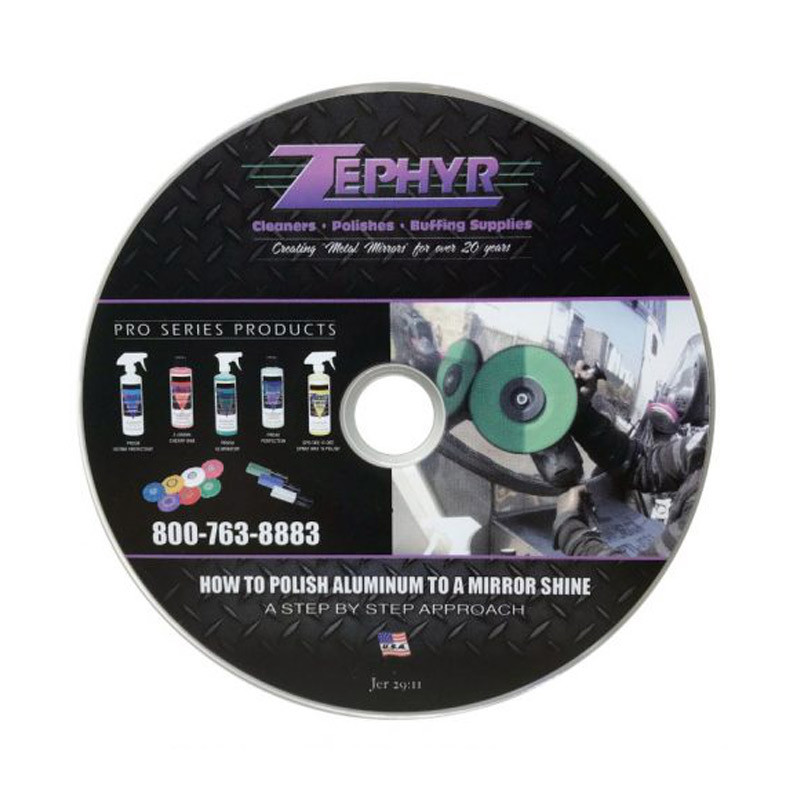Zephyr How To Polish Aluminum To A Mirror Shine DVD
