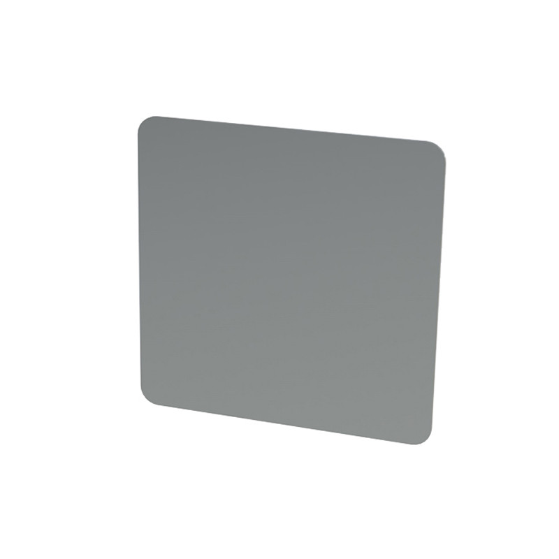 """Stainless Steel Tape Mount Flat Permit Panel - 4"""" x 4"""""""