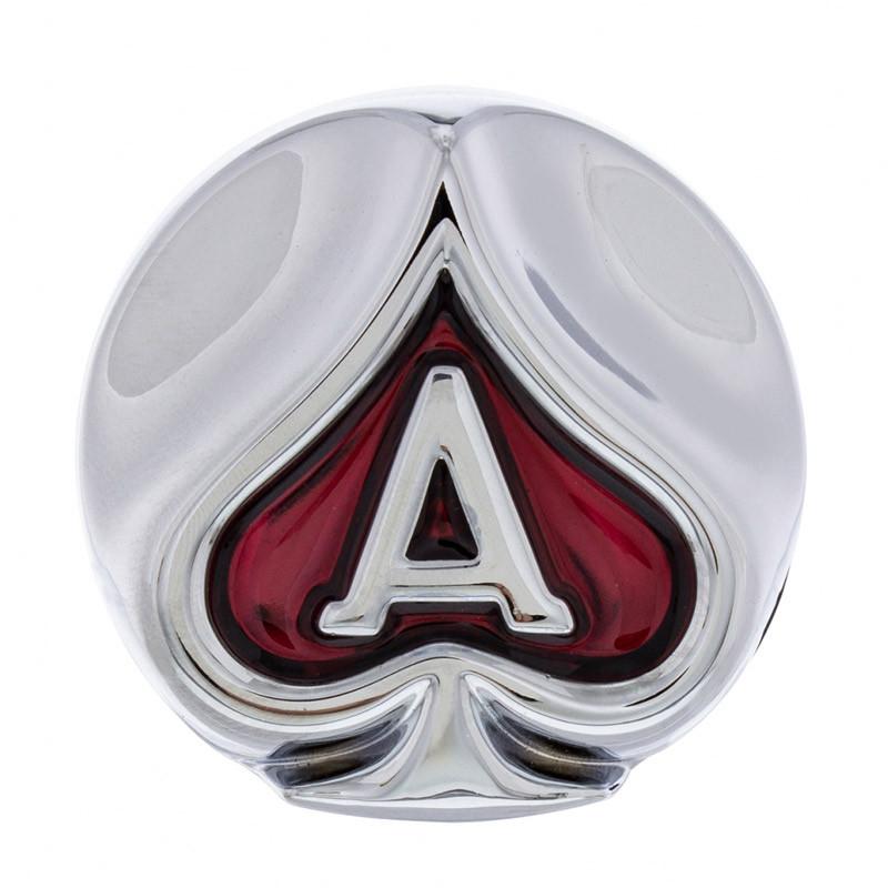 Chrome Ace of Spades Air Valve Knob