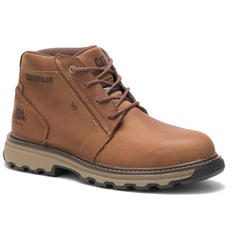 ccea23b6cf7 Mens Parker Steel Toe Tough Trucker CAT Work Boots