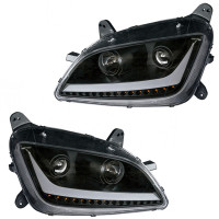 Peterbilt 579 587 Blackout Aftermarket Projector Headlights