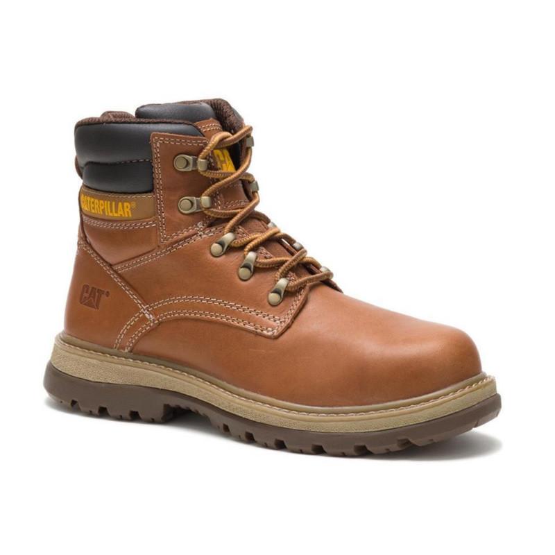 0e8eb1bccd0 Mens Fairbanks Steel Toe Tough Trucker CAT Work Boots